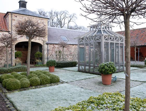 Frosty Courtyard